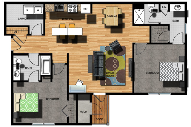 Sketch of Apartment Layout